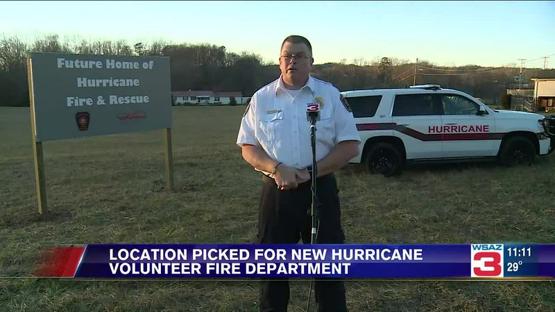 The new Hurricane Volunteer Fire Department will be located on a five-acre lot, just past the...