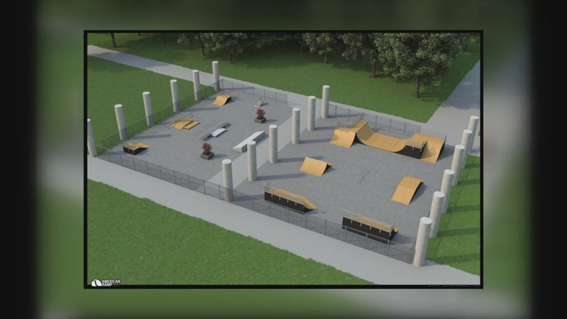 Here is an artist rendering of the Charleston skate park which is on the horizon.