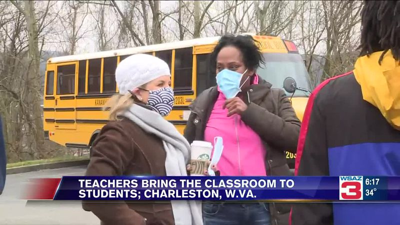 Educators from Horace Mann Middle School took their classrooms on a citywide tour Wednesday...