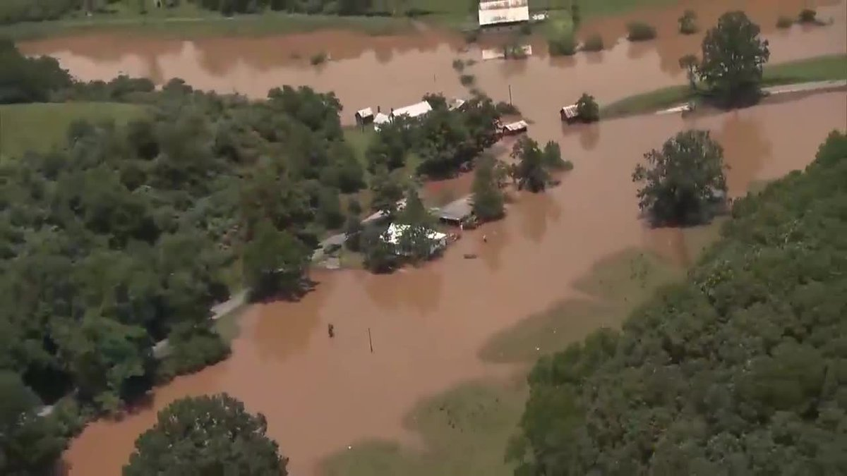 Historic flooding in parts of West Virginia on June 23, 2016.