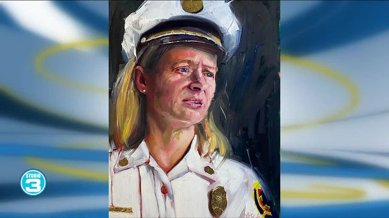 Local artist painting 100 influential women in 100 days