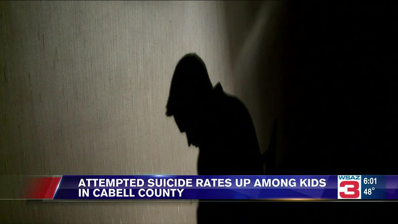 Attempted suicide rates are up among kids in Cabell County, according to the West Virginia...