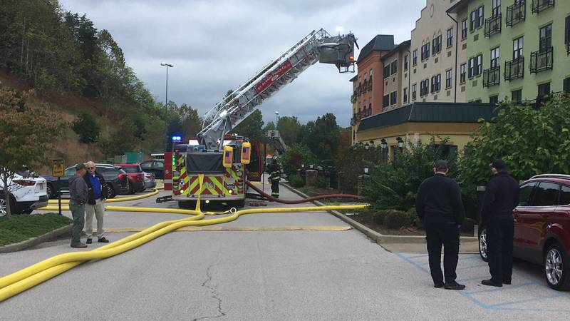 Fire crews respond to one Greyhound Drive in Cross Lanes, W.Va.
